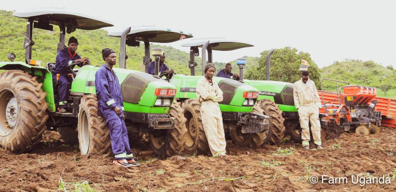 Farm Uganda tractor operators