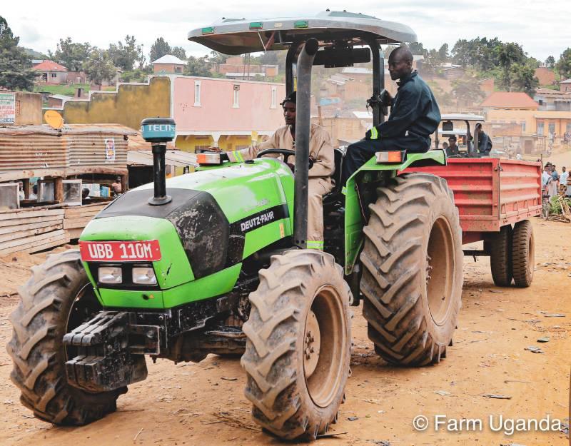 Gaayi driving tractor