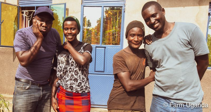 The couple with Farm Uganda team
